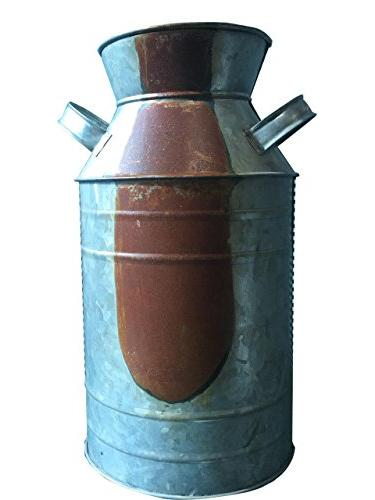 CWI Gifts Milk Can, Galvanized Finish - Country Rustic Primi