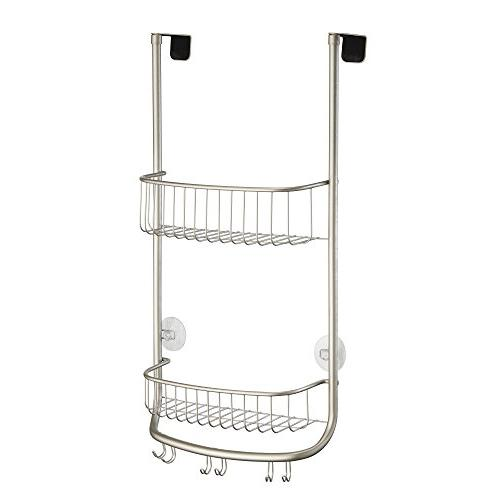 InterDesign Over Shower Caddy, Shelves for and Soap of 1 Satin