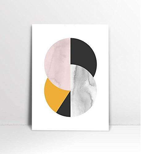 Abstract Circle, mid Art Print, Century Art, Geometric Print, Circle Print, Print, Art Circle Wall 8x10