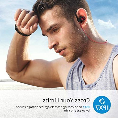 Mpow Waterproof IPX7, Wireless Sport, Richer HiFi Stereo in-Ear Earphones Case, 7-9 Hrs Playback Noise Cancelling