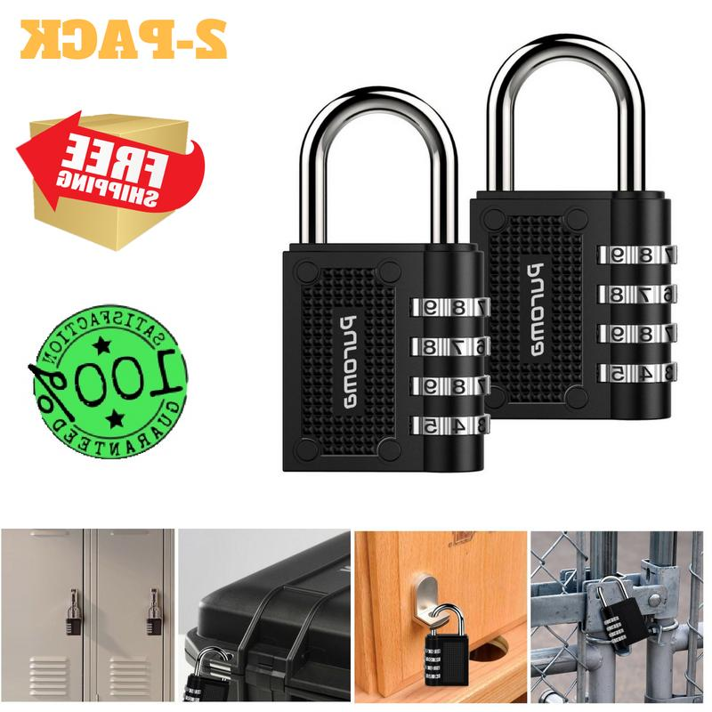 2 Pack Combination Lock 4 Digit Padlock For School Gym Locke