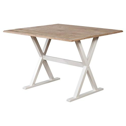 drop leaf rustic white dining