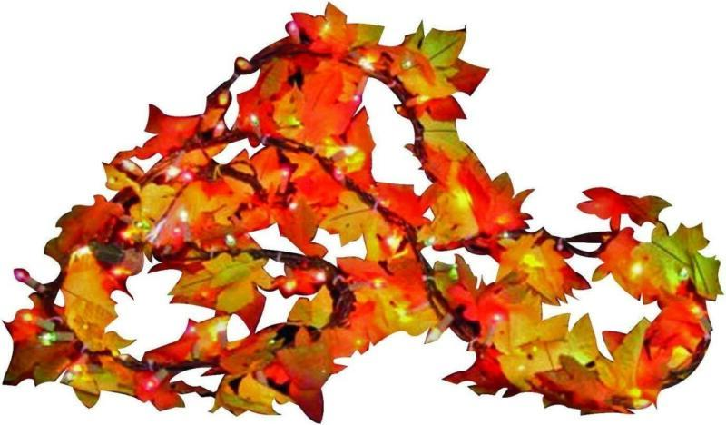 Sylvania Fall Color Lighted Leaf Clear Ft Indoor