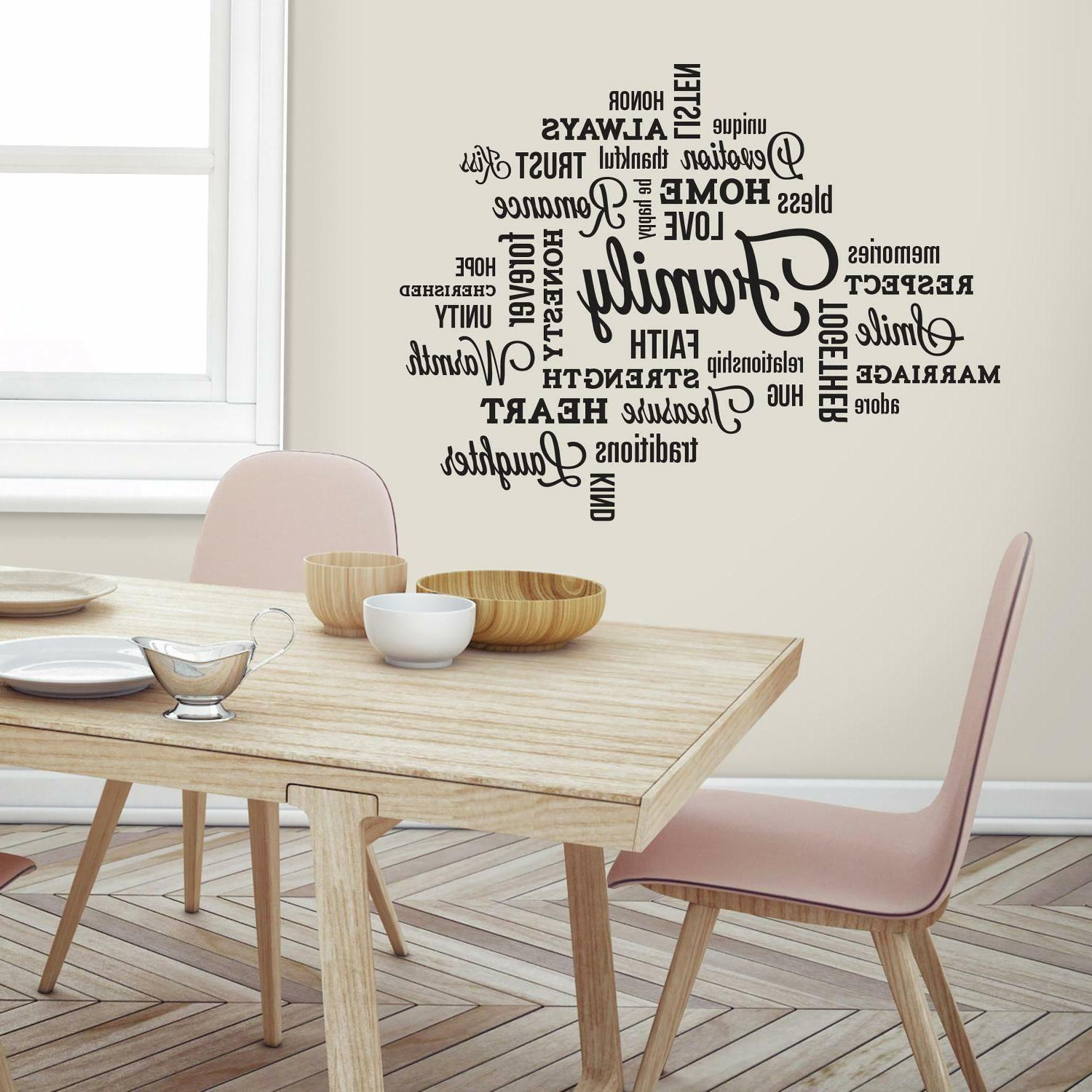 family quote peel stick wall