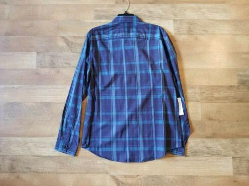 plaid button down NEW WITH $20