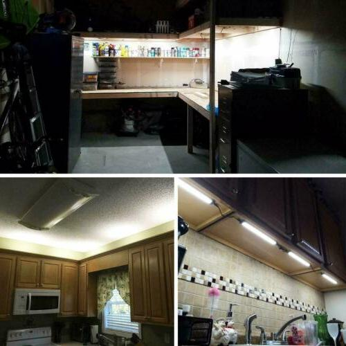 LED Under Kit Lamp Cabinet Kitchen Light Bars 1FT 5000K