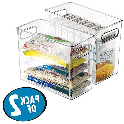 mDesign Plastic Kitchen Pantry Cabinet, Refrigerator or Free