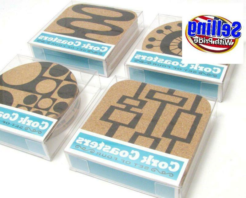 Mid Abstract Cork Drink Gift Set