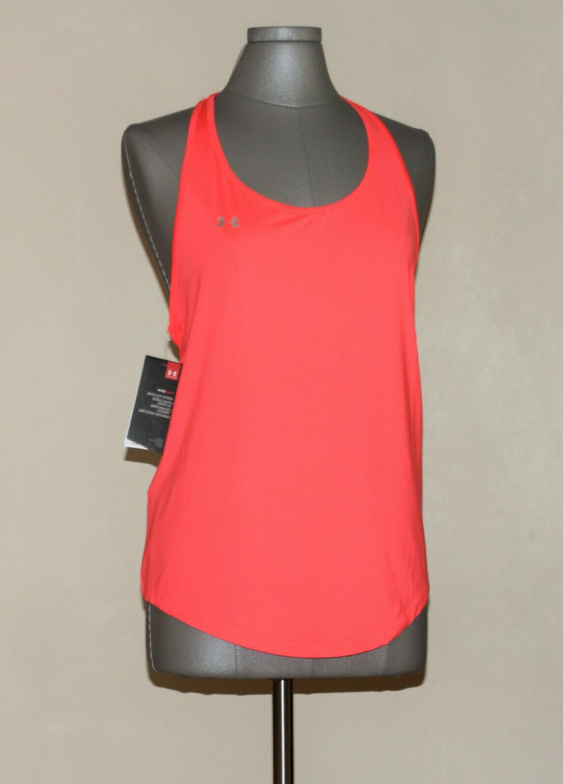 Under HeatGear Racerback Tank Top Coral Sz XL