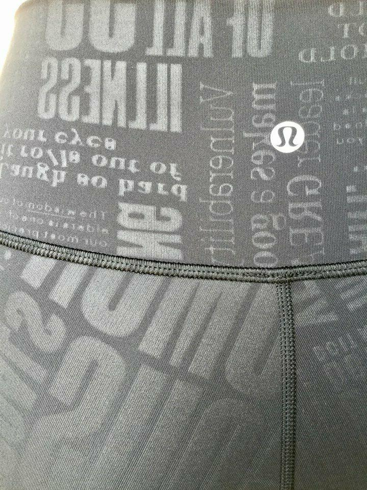 NWT Lululemon Under Pant 7/8 20 Black RARE!
