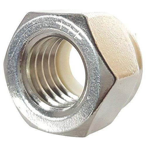 10-32 Insert Hex Lock Stainless 18-8, Plain 100 By Fastenere