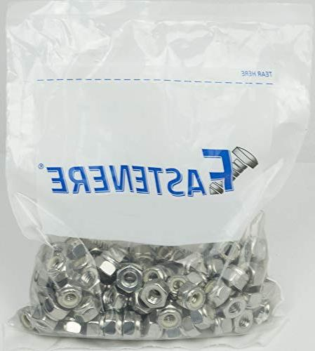 10-32 Nylon Insert Lock Stainless Steel 18-8, 100