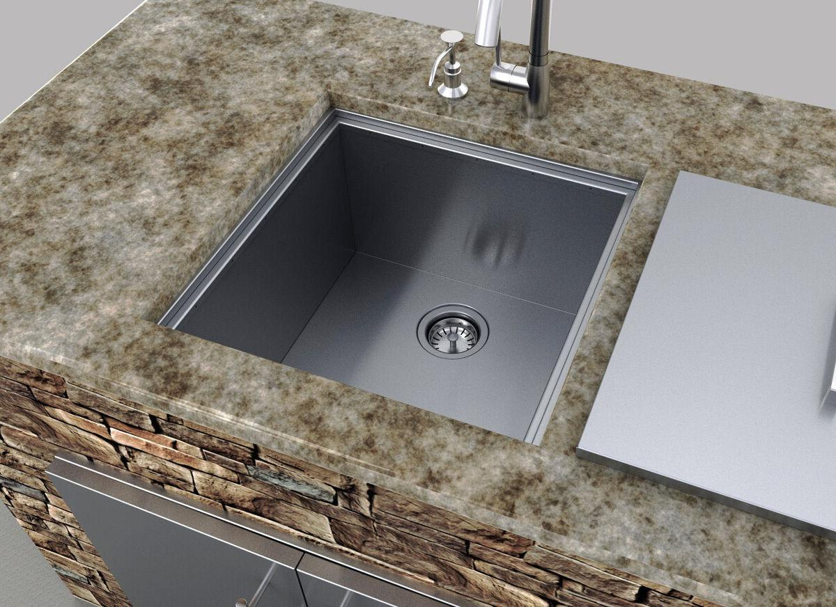 """Sunstone Over/Under 12"""" Height Single Basin Sink w/Cover"""