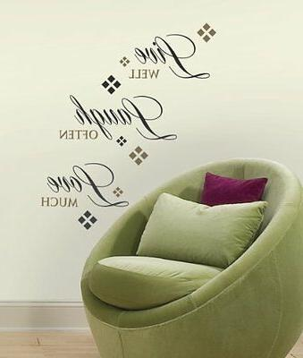 RoomMates RMK1396SCS Live Love Laugh Peel & Stick Wall Decal