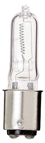 Satco S1981 120V 50-Watt T4 DC Bayonet Base Light Bulb, Clea