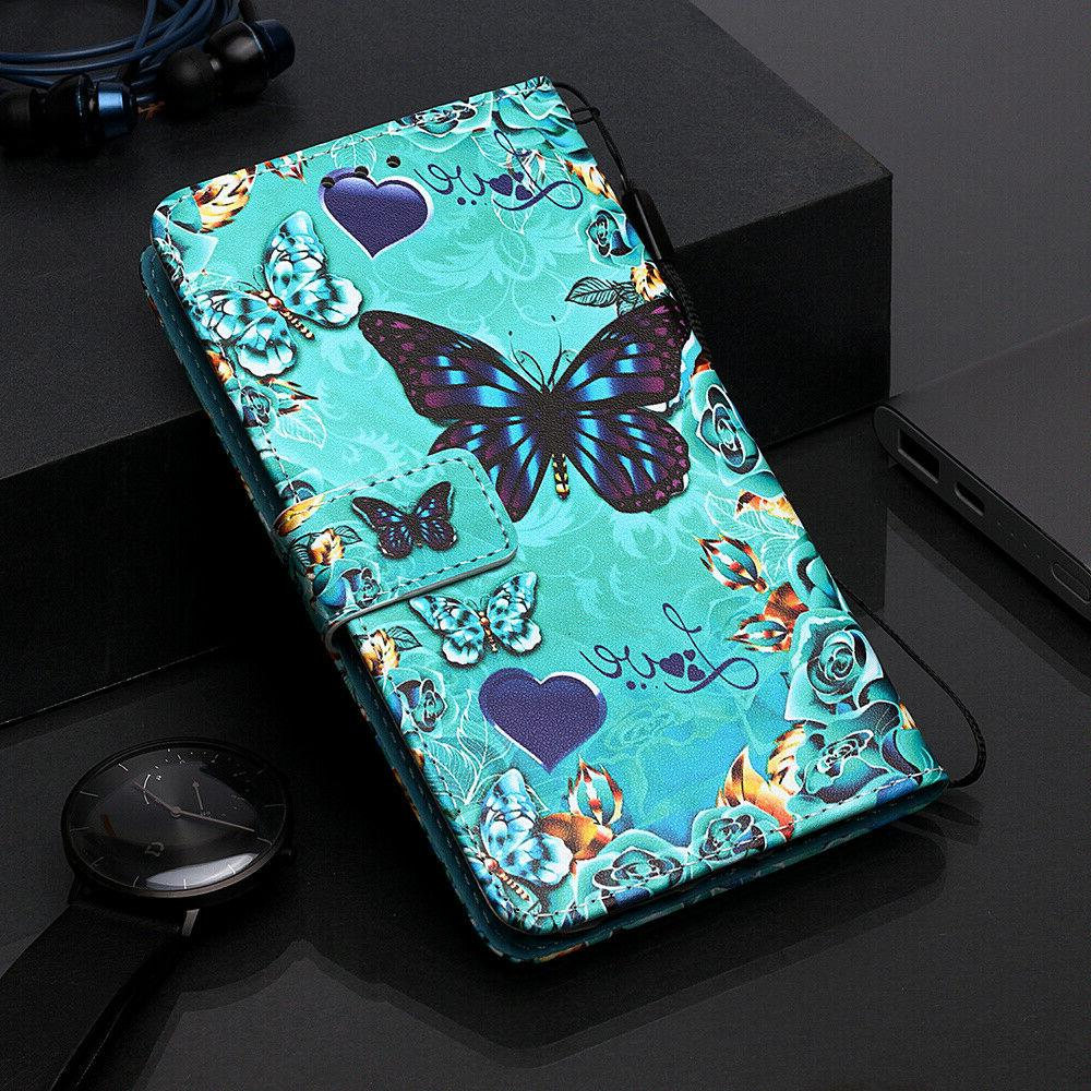 For Samsung S10 Note 10 Pattern Wallet Flip Phone Case