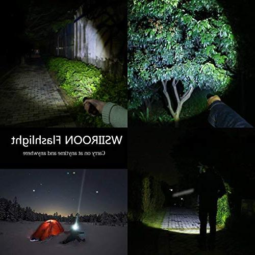 LED Wsiiroon 1600 Flashlight-Portable, Zoomable, Brightness Modes for Indoor Outdoor Use, 2