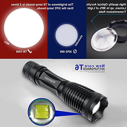 Ultra-Bright LED Zoomable, IP65 Water-Resistant, 5 Light Indoor 2