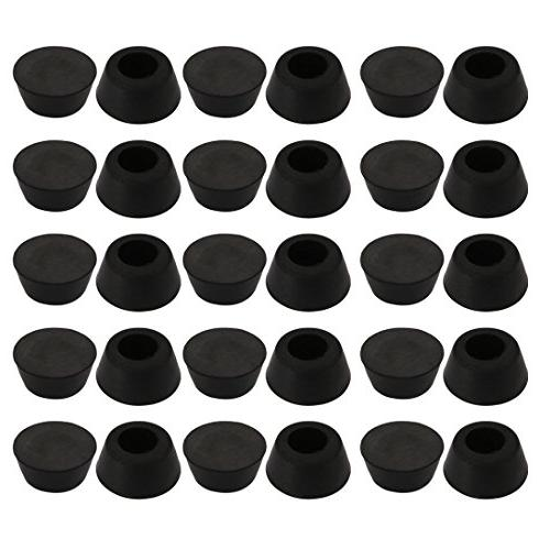 uxcell 30pcs Desk Chair Round Rubber Leg Cap Floor Protector