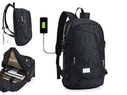 GuiShi Laptop Backpack Business Bags with USB Charging Port