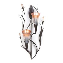Zingz and Thingz Lilies Candle Wall Sconce in Dawn Lilies