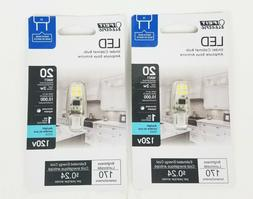 Lot of 2 Feit Electric G8 LED Under Cabinet Bulb 20W Dayligh