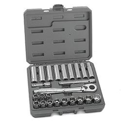 Craftsman 24 pc. Metric 1/2 in. Drive Socket Wrench Set