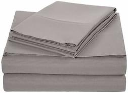 AmazonBasics Microfiber Sheet Set, Cal King, Dark Grey