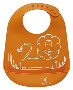 modern-twist Waterproof Silicone Bucket Baby Bib with Adjust