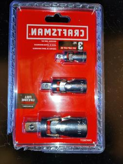 NEW Craftsman 3 Piece Universal Joint Set 1/4 3/8 1/2 Inch D