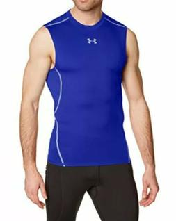 NEW Under Armour Men's Royal Blue Sleeveless Compression S
