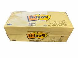 Post-it 654 Notes, 3 in x 3 in, Canary Yellow, 12 Pads/Pack,