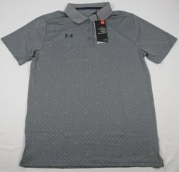NWOT Boys UNDER ARMOUR 3 BUTTON CASUAL POLO GRAY YOUTH YXL 1