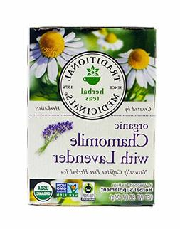 Traditional Medicinals Organic Chamomile With Lavender Herba
