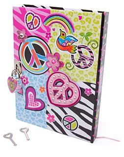 """Hot Focus Peace Secret Diary with Lock – 7"""" Journal Note"""