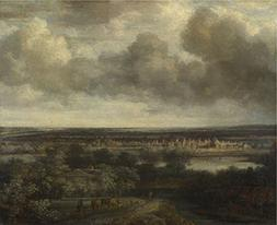 'Philips Koninck An Extensive Landscape With A Town ' Oil Pa