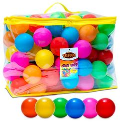 Plastic Air Filled Balls for Pits 100 Pack | Crush Proof, Du