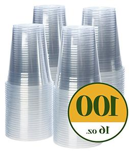 Crystal Clear PET Plastic Cups