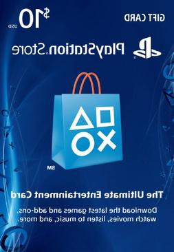 $10 PlayStation Store Gift Card - PS3/ PS4/ PS Vita