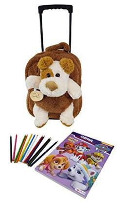 Kids Plush Animal Puppy Rolling Backpack By Lug It -Best Whe
