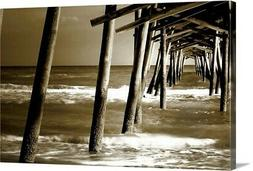 Solid-Faced Canvas Print Wall Art entitled Under the Pier II