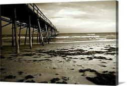 Solid-Faced Canvas Print Wall Art entitled Under the Pier I