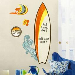 ROOMMATES RMK1788GM Surfs Up Dry Erase Peel and Stick Giant