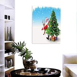 Anyangeight Santa Wall Paintings Traditional Xmas Character