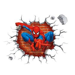 Spiderman Wall Through-Wall Stickers With Decor Decal Art Re