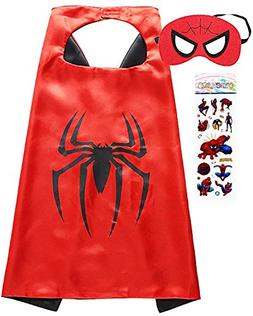 Superhero Costume and Dress Up for Kids - Satin Cape and Fel