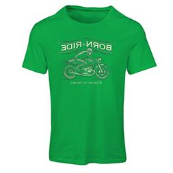 T Shirts for Women Born to Ride, Forced to Work - Saying Shi
