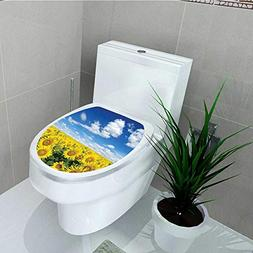 Philip C. Williams Toilet Seat Wall Stickers Paper Sunflower