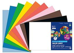 Pacon Tru-Ray Construction Paper, 76 Lbs., 12 X 18, Assorted