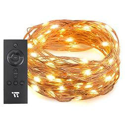 TaoTronics 33 ft 100 LED String Lights RF Remote Control, Su